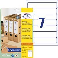 Avery Zweckform LR4760-25 nyomtatható öntapadós környezetbarát iratrendező címke