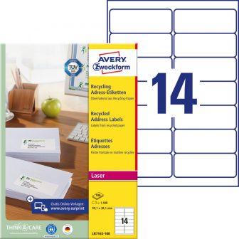 Avery Zweckform LR7163-100 környezetbarát öntapadós etikett címke