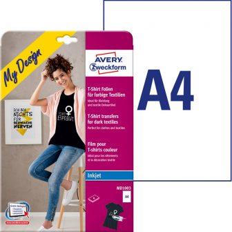 Sötét pólóra vasalható fólia Avery Zweckform MD1003