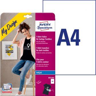 Sötét pólóra vasalható fólia Avery Zweckform MD1004