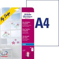 39204a0ebb Avery Zweckform My Design MD3002 átlátszó dekorációs fólia tintasugaras  nyomtatókhoz A4 - 210 x 297 mm