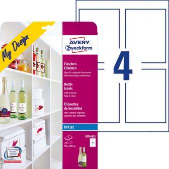 Avery Zweckform My Design MD4001 boros címke tintasugaras nyomtatókhoz (borosüveg címke) - 20 címke / csomag (Avery MD4001)
