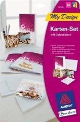 Avery Zweckform My Design MD5005 kreatív üdvözlő kártya készlet - 1 készlet / csomag (Avery MD5005)