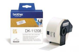 Brother DK-11208 tekercses öntapadó fehér etikett címke - méret: 38 x 90 mm - 400 címke / tekercs (Brother DK-11208)