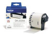 Brother DK-22205 tekercses öntapadó fehér szalag - méret: 62 mm x 30,48 méter (Brother DK-22205)