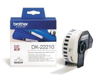 Brother DK-22210 tekercses öntapadó fehér szalag - méret: 29 mm x 30,48 méter (Brother DK-22210)