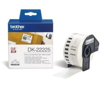 Brother DK-22225 tekercses öntapadó fehér szalag - méret: 38 mm x 30,48 méter (Brother DK-22225)