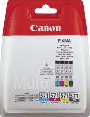 Canon CLI-571 multipack tintapatron csomag - fekete, cián, bíbor, sárga (Canon CLI-571 multipack)