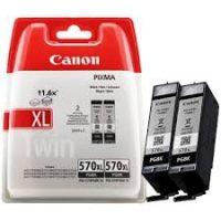 Canon PGI-570PGBk XL Twin pack - 2 darab Canon PGI-570PGBk XL fekete tintapatron egy csomagban (Canon PGI-570PGBk XL Twin Pack )