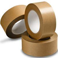 Öntapadó papír ragasztószalag csomagok ragasztására 50 mm x 50 m (papír csomagolószalag) - barna