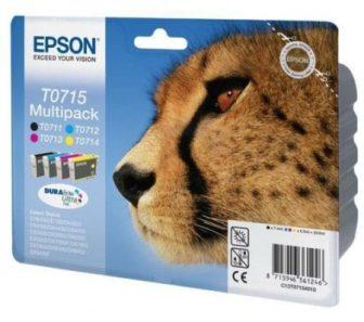 Epson T07154010 Multipack - 1 fekete + 3 szín / csomag (Epson C13T07154010)