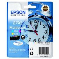 Epson T271540 multipack (Epson 27XL) - cyan, magenta, yellow tintapatron egy csomagban (Epson C13T27154010)