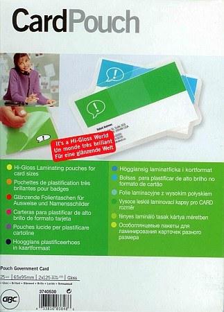 GBC BadgeMates személyazonosító kártya készítő (névkitűző) készlet - 65 x 95 mm méretű, 25 készlet / csomag (GBC 3740530)