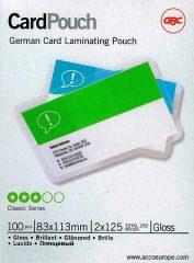 GBC HeatSeal fényes lamináló fólia - 83 x 113 mm méretű (German) - 2 x 125 mikron vastagságú, 100 ív / csomag (GBC 3743154)