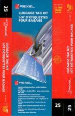GBC BadgeMates poggyászcímke készítő készlet - 64 x 108 mm méretű, 25 készlet / csomag (GBC 41675E)