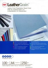 GBC LeatherGrain sötétvörös bőrhatású borítólap A4 méretben - súly: 250 gsm - 100 darab csomag (GBC CE040030)