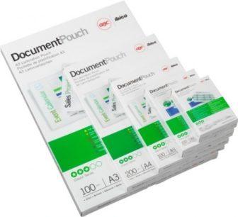 GBC HeatSeal fényes lamináló fólia - 303 x 426 mm méretű (A/3) - 2 x 80 mikron vastagságú, 100 ív / csomag (GBC IB583032)