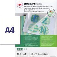 Lamináló fólia A4, 2 x 80 mikron
