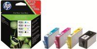 HP C2N92A No. 920XL combo pack (3 szín + fekete) - colour, black (Hewlett-Packard C2N92A)