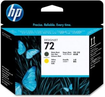 HP C9384A No. 72 nyomtatófej - black / yellow (Hewlett-Packard C9384A)