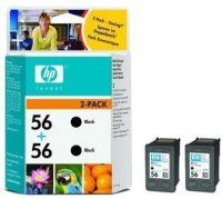 HP C9502A No. 56 dupla csomag 2 x HP C6656A - black (Hewlett-Packard C9502A)