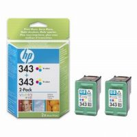 HP CB332E No. 343 dupla csomag 2 x HP C8766E - colour (Hewlett-Packard CB332E)