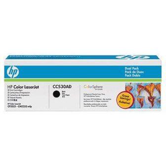 HP CC530AD festékkazetta csomag (No. 304A) - 2 darab HP CC530A toner (Hewlett-Packard CC530AD)