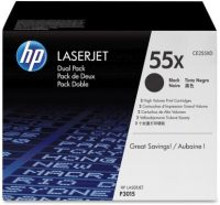 HP CE255XD toner cartridge pack - 2 x HP CE255X toner - fekete (Hewlett-Packard CE255X)