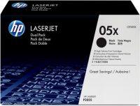 HP CE505XD festékkazetta csomag (No. 05X) - 2 darab HP CE505X toner (Hewlett-Packard CE505XD)