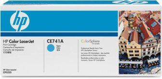 HP CE741A toner cartridge - cyan (Hewlett-Packard CE741A)
