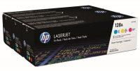 HP CF371AM festékkazetta csomag (No. 128A) - kék, sárga, bíbor toner egy dobozban (Hewlett-Packard CF371AM)