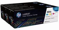 HP CF372AM festékkazetta csomag (No. 304A) - kék, sárga, bíbor toner egy dobozban (Hewlett-Packard CF372AM)