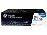 HP CF373AM festékkazetta csomag (No. 125a) - kék, sárga, bíbor toner egy dobozban (Hewlett-Packard CF373AM)