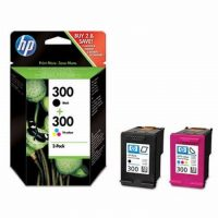 HP CN637E No. 300 csomag - 1 x HP CC640E, 1 x HP CC643E - black, colour (Hewlett-Packard CN637E)