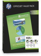 HP F6U78A No. 935XL ValuePack - 935XL cyan, magenta, yellow tintapatron + papír (Hewlett-Packard F6U78A)