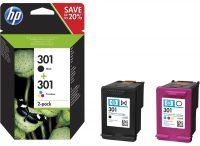 HP N9J72AE No. 301 csomag - 1 x HP CH561E, 1 x HP CH562E - black, colour (Hewlett-Packard N9J72AE)