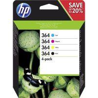 HP N9J73AE No. 364 tintapatron csomag - 3 szín + fekete (Hewlett-Packard N9J73AE)