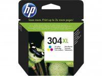 HP N9K07AE No. 304XL tintapatron - színes (Hewlett-Packard N9K07AE)