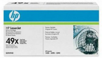HP Q5949XD toner cartridge pack - 2 x HP Q5949X - fekete (Hewlett-Packard Q5949XD)