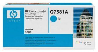 HP Q7581A toner cartridge - ciánkék (Hewlett-Packard Q7581A)