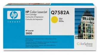 HP Q7582A toner cartridge - sárga (Hewlett-Packard Q7582A)