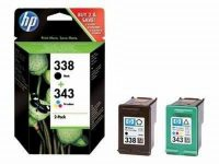 HP SD449E No. 338, 343 csomag - 1 x HP C8765E, 1 x HP C8766E - black, colour (Hewlett-Packard SD449E)