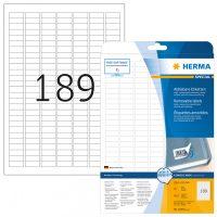 Herma 10001 nyomtatható öntapadós visszaszedhető etikett címke