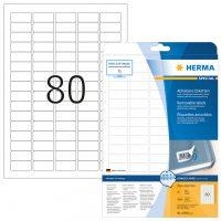 Herma 10003 nyomtatható öntapadós visszaszedhető etikett címke