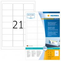 Herma 10301 nyomtatható öntapadós visszaszedhető etikett címke
