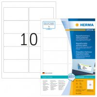 Herma 10307 nyomtatható öntapadós visszaszedhető etikett címke