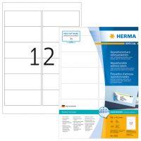 Herma 10311 nyomtatható öntapadós visszaszedhető etikett címke