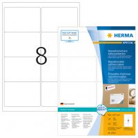 Herma 10312 nyomtatható öntapadós visszaszedhető etikett címke