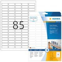 Herma 10917 fehér színű öntapadó etikett címke