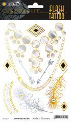 """Herma Flash Tattoo No. 15154 öntapadó tetoválás matrica """"Diamonds"""" motívumokkal."""